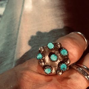 Vintage SS/turquoise Native American ring